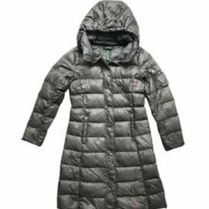 Gray Ralph Lauren Long Down Puffer Coat Hooded